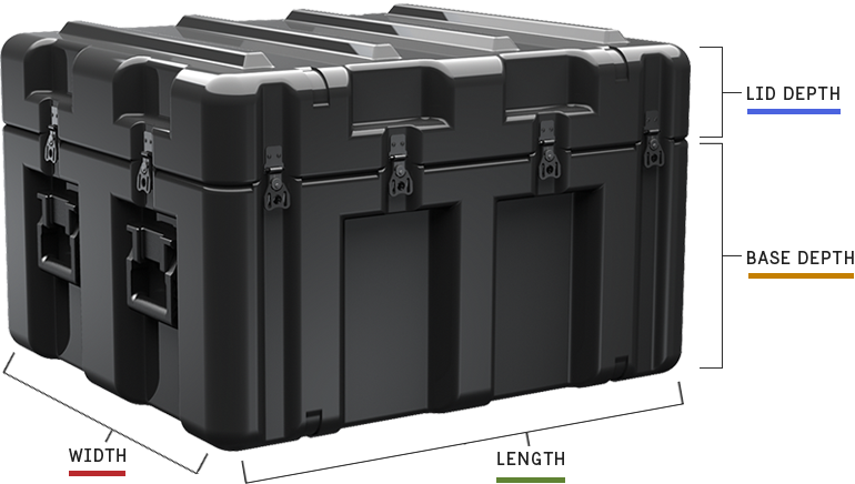 pelican single lid case dimensionses cases