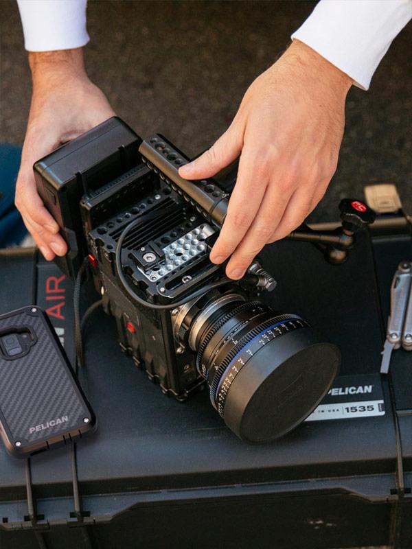 pelican professional red camera dslr case